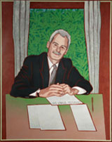 Portrait of Professor Ian Goulter by Andrew Sibley