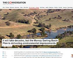 The Conversation - Murray-Darling Conservation plan