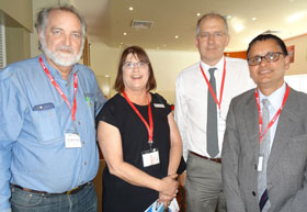 Prof Max Finlayson, Ms Kater Charters, Prof Eddie Oczkowski and Prof Kishor Sharma