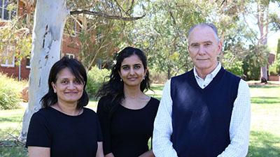 Dr Nivedita Narain, PhD student Arundhita Bhanjdeo and Associate Professor Gavin Ramsay