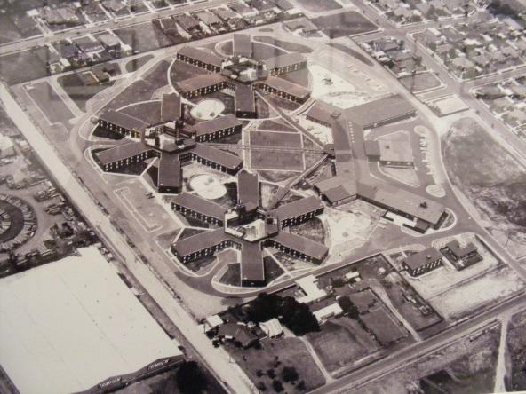 Aerial view of Bonegilla camp