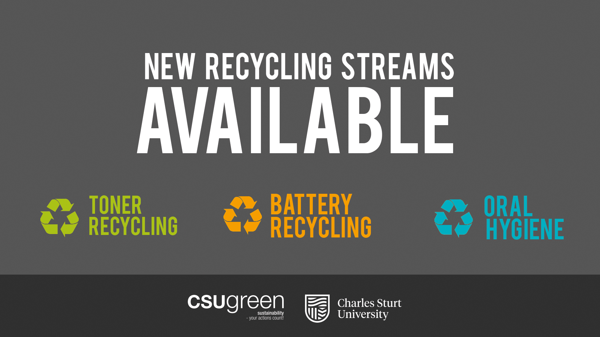 New recycling available - toner, battery and oral care product recycling