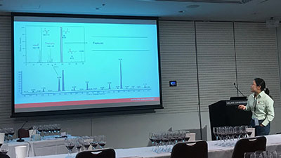 photo of Dr Sijing Li presenting  her untargeted chemical analyses