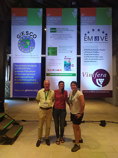 photo of the NWIC team at the conference in Greece