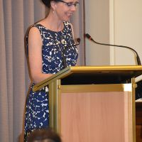 """Dr Robyn Wrigley-Carr gave a keynote address on Monday 28 October titled """"Corporate Worship for People with Dementia: stimulating the senses and rituals"""". Photograph by Sarah Stitt"""