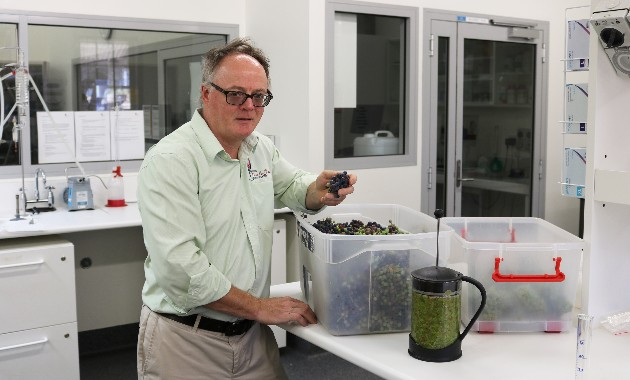 Charles Sturt's small-scale winemaking to assess smoke taint