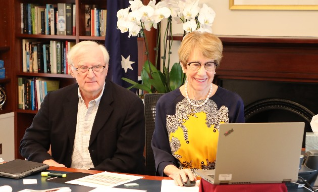 Governor of NSW undertakes virtual tour of National Wine and Grape Industry Centre