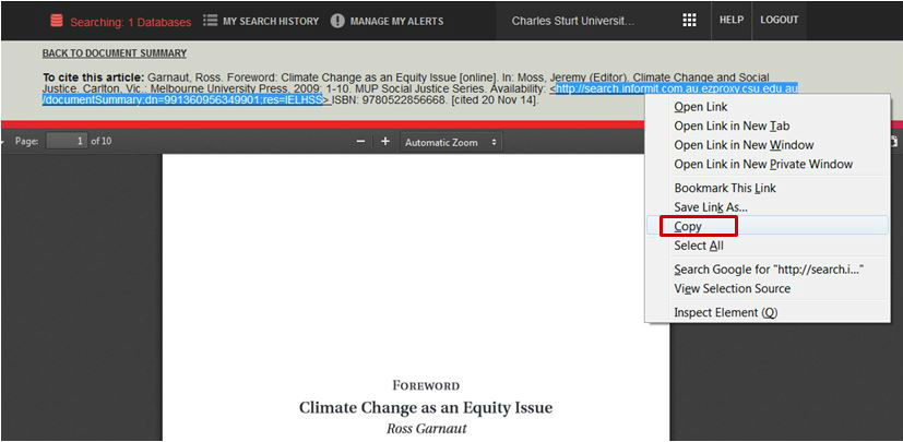 screen sample of the Informit website with the URL highlighted in the article header