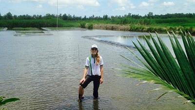 Ms Brooke Kaveny in southern Vietnam