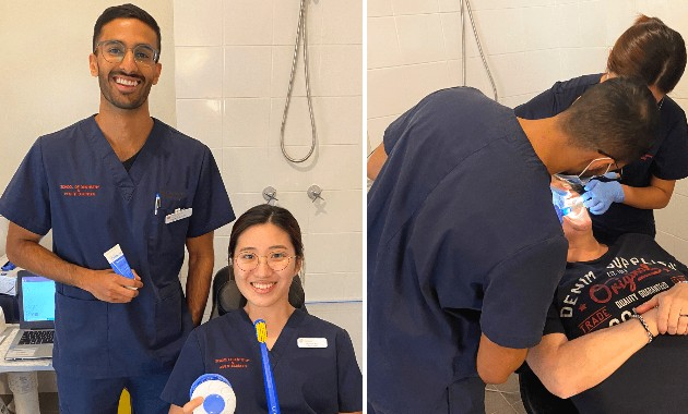 Dentistry students take practice into community via portable clinic