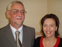 CSU's Associate Professor David McKinnon and Dr Lena Danaia from the School of Teacher Education.