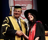 Dr Jane McCormack received her PhD from CSU Chancellor Mr Laurie Willet in Albury, NSW in April 2011.