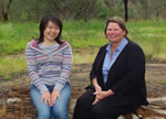 Tomomi Maekaea and Karen Brisbane at CSU Albury Wodonga
