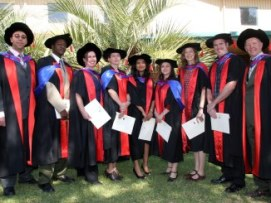 CSU Graduates in their gowns