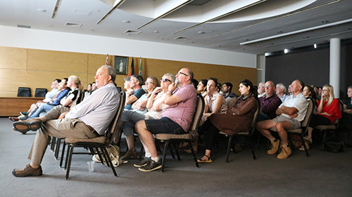 A good crowd attended the screening of the film, 'Food Evolution' hosted by the Graham Centre