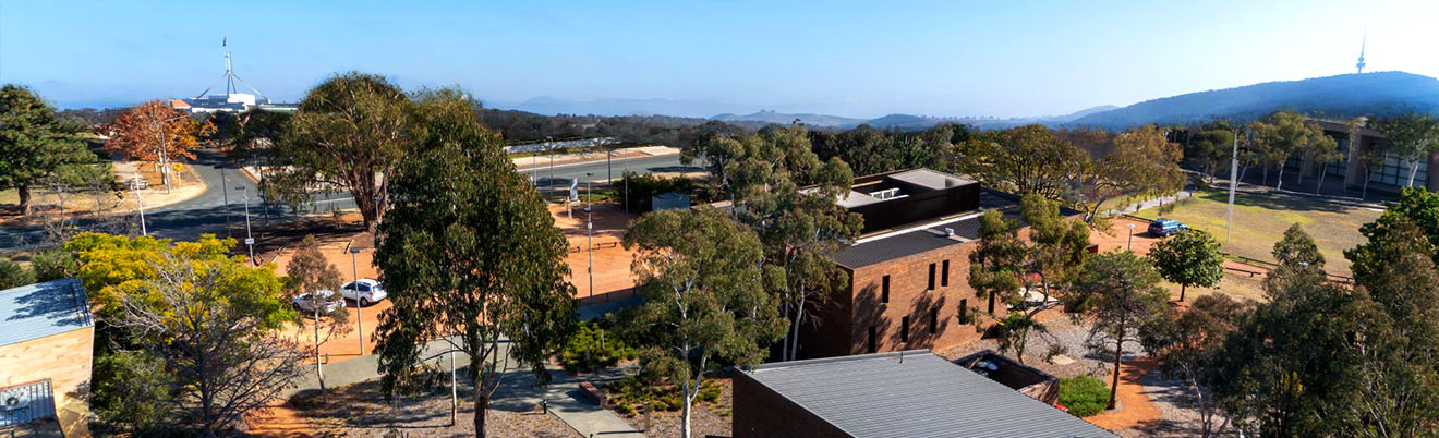 Photo has been edited - PACT buildings and Canberra surrounds