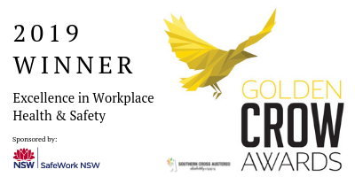 Golden Crow Awards 2019 Finalist Excellence in WHS