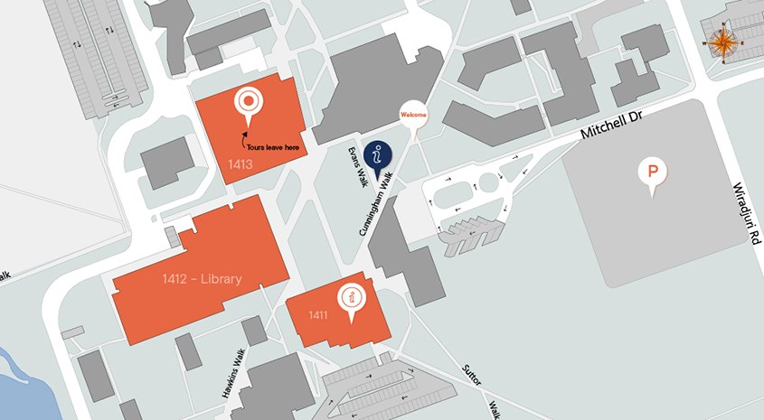 Map of Bathurst Campus