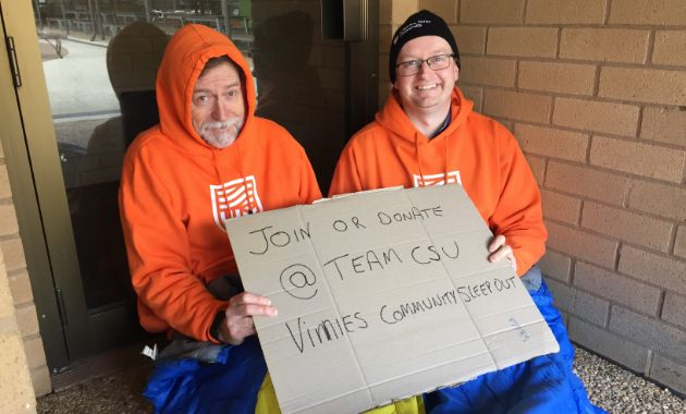 Charles Sturt challenges Wagga Wagga residents to sleep rough for Vinnies Community Sleepout