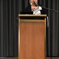 Paper presenter. Photograph by Sarah Stitt