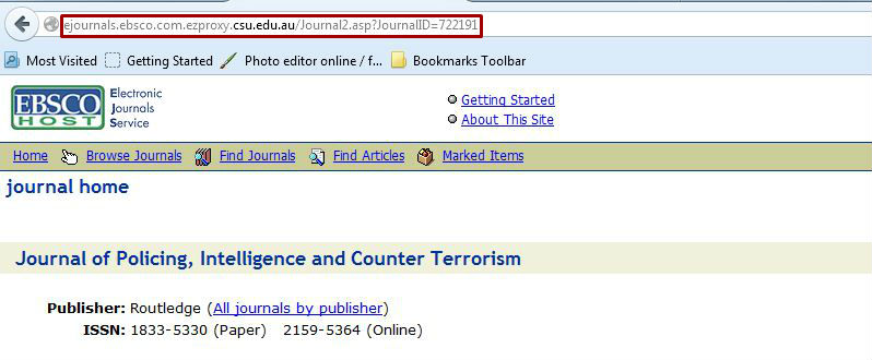 screen sample of the EBSCO website with the address bar URL highlighted