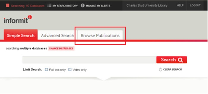 screen sample of the Informit website with the 'Browse Publications' tab highlighted