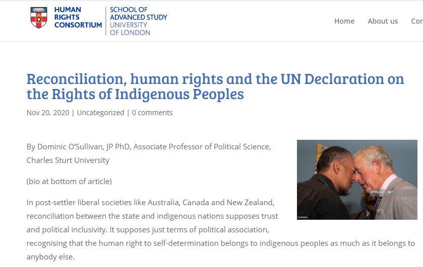 Reconcilitation Human Rights Commission blog