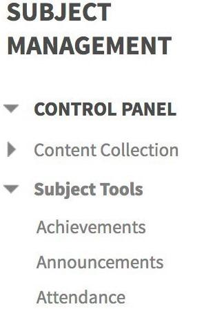 Subject Tools