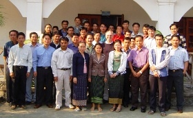 Group photo during a Legumes for Pigs Learning Alliance workshop