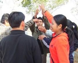 Staff enjoying team building activities