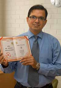 Associate Professor Mohsin Hafeez was made a guest professor at Hubei University in China in 2008.
