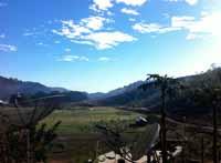A farming district in Timor-Leste