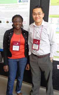 Dr Siong Tan with PhD student Ms Adeola Alashi at the Australian Institute of Food Science and Technology Conference in Brisbane in 2013.