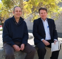 Prof Mark Morrison ILWS and David Peard of The Centre for International Economics