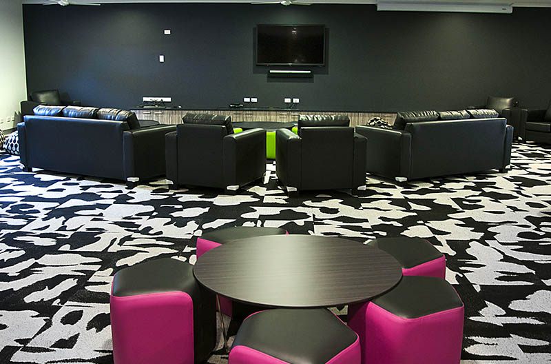 Common lounge and entertainment area