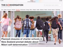 The Conversation - Closure of charter schools in NZ