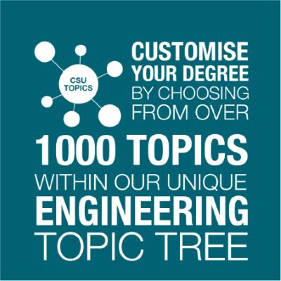 Customise your degree by choosing from over 1000 topics within our unique engineering topic tree