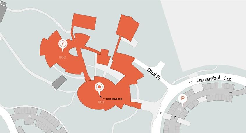 Map of Dubbo campus off Darrambal Crt