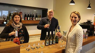 photo of Julia Gouot, Dr John Blackman and Dr Helene Hopfer