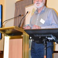 """Dr Alan Niven gave the dinner address on Monday 28 October. He spoke on """"What ritual teaches us about life, humour and ageing: Or should that be the other way around?"""" Photograph by Sarah Stitt"""