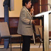 Professor Kalyani Mehta gave a keynote address on Tuesday 29 October titled The Universality of Spiritual Pursuits. Photograph by Sarah Stitt