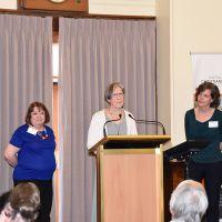 Caroline Adams, Marg Holt and Jane Kuepfer. Photograph by Sarah Stitt