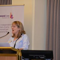 """Sally Mordike gave a paper titled: """"The lived experience of older people with frailty: finding meaning in the 'last lap of life'"""" on Monday 28 October. Photograph by Sarah Stitt"""
