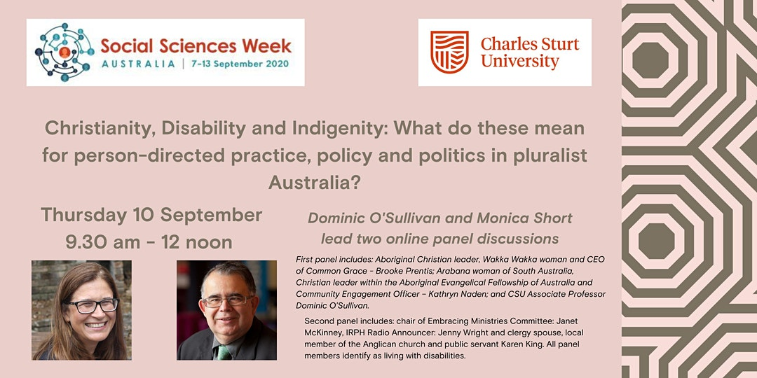 Public lecture: Christianity, Disability and Indigenity: What do these mean in pluralist Australia?
