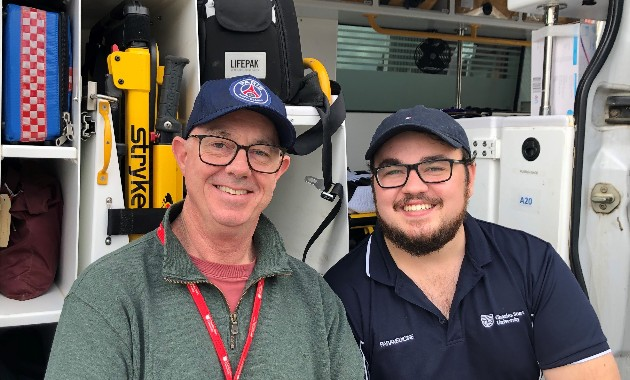 It's all in the family for paramedic father and son