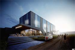 Artists impression of Rural Medical School teaching building at CSU in Wagga Wagga.