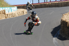 Downhill racers at Newton's Nation, Mt Panorama, Bathurst