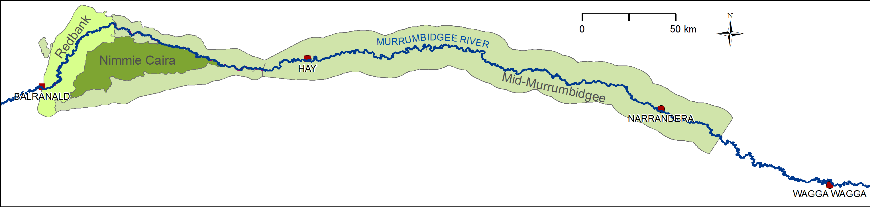 Map Murrumbidgee