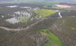 Photo of flooding east of Darlington Point NSW, image courtesy of Murrumbidgee SES Region HQ