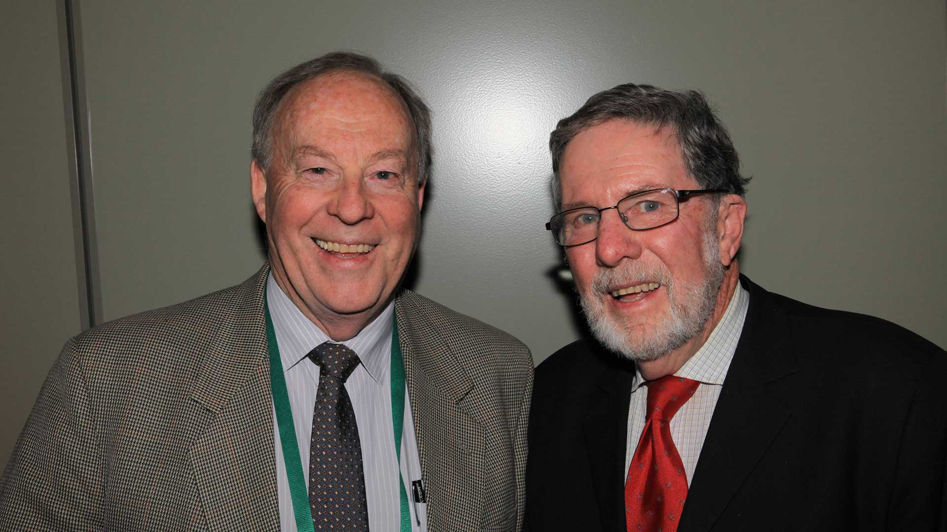 photo of Professor Jim Pratley and Dr John Angus